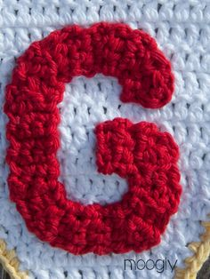 The Moogly Crochet Alphabet - free patterns! #crochet