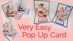 cardmaking video tutorial: pop-up card with tiered steps ... great fold ... from Mixed U[p Craft ...