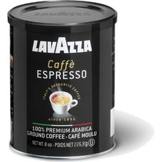 Lavazza Caffe Espresso Ground Coffee, 8-Ounce Can - http://www.freeshippingcoffee.com/brands/lavazza/lavazza-caffe-espresso-ground-coffee-8-ounce-can/ - #Lavazza