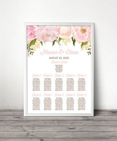 Help your guests easily navigate their way around your wedding. #seatingchart #wedding #weddingtables