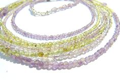 Necklace  Peridot Amethyst and Silver 925 by FantasyStones on Etsy