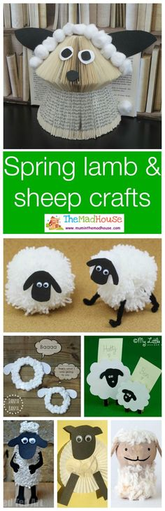 35 Spring lamb and sheep crafts