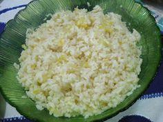 Arroz com limão / Rice with lemon http://grafe-e-faca.com/pt/receitas/molhos-acompanhamentos/acompanhamentos/arroz-com-limao-4-pessoas/