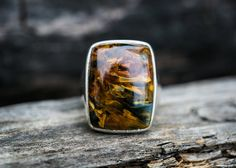 Pietersite Ring size 8  Pietersite Ring  by NaturalRockShop