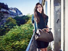 LV_Irina_Paris_JamieMcGregorSmith_Fianls-003--- LV forest green jumper w/ furry pockets and monogram bag