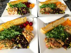 The Vegetarian Palette: Lunch ~ Tabouli, Bean, Arugula, and Couscous Salad...