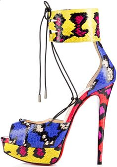 Christian Louboutin 'Corsankle' Open-Toe Sky-High Platform Sandals