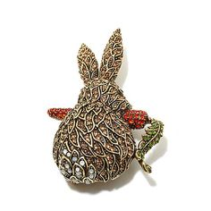 "Heidi Daus ""Cottontail"" Crystal Pin"