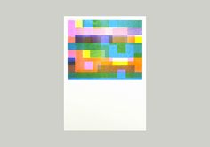 Glitch Riso Prints A3 Risograph Prints of JPEG Glitches by Jamie Reid, of the UK.