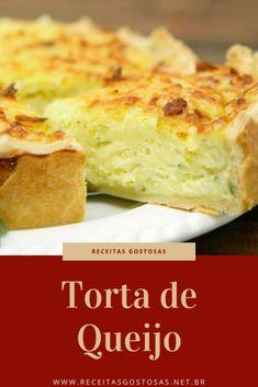 Receita de Torta de Queijo Tortas Low Carb, Quiche Lorraine, Vegan Life, Cornbread, Carne, Banana Bread, Appetizers, Ethnic Recipes, Desserts