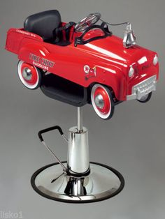 PIBBS-1804-KIDS-BARBER-OR-STYLING-CHAIR-FIRE-ENGINE-PEDAL-CAR