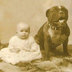 Baby with its #Pitbull - #NannyDog
