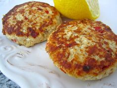 Florida Fish Cakes - The Fit Cook - Healthy Recipes - swap out tilapia for another white fish *need to swap out egg