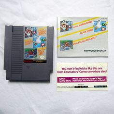 NES Super Mario Bros Duck Hunt and Track Meet Nintendo With Instructions Tested