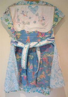 Antique Fair Attire - Birds Embroidery -- Western Americana Fabric --Wearable Folk Art Collage Clothing -- MyBonny