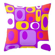 Mod  Purple Throw Pillow