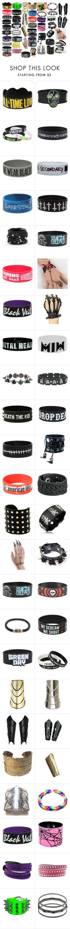 """Bracelets 15"" by spellcasters ❤ liked on Polyvore featuring Hot Topic, Coven, Chico's, Trend Cool, Eddie Borgo, Full Tilt, Funk Plus, Frye, Michael Kors and Bling Jewelry"