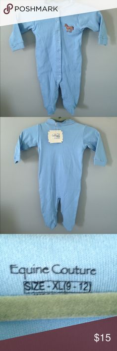 Equine Couture Boys Pajamas/Footies New with tags equine couture One Pieces Footies