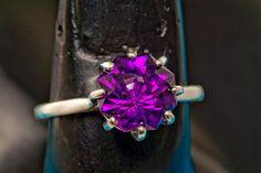 Gem Grade Uruguyan Amethyst Rose Petal Cut Diamond by janeysjewels