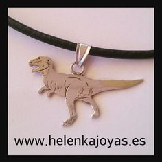 colgante dinosaurio plata plano Teacher Gifts, Custom Jewelry, Originals, Fascinators, Pendants, Author
