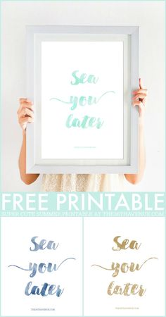 Printable - Super cute Summer Free Printable. Pin it now and print it later!