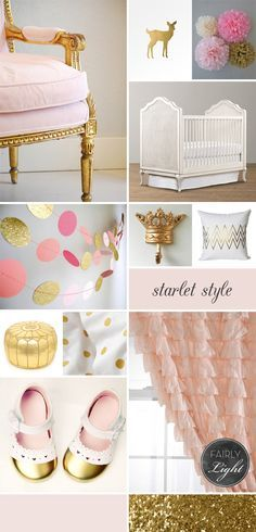 Paint vintage chair gold, Cute little baby deer, love the toe dipped shoes, and the gold crown.