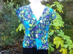 Rain Forest Print Short Sleeve Top From Oli Size M | eBay
