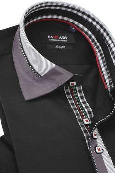 F8 Black Shirt | Farrabi Slim Fit | Exclusive Luxury Shirts