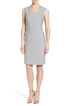 BOSS 'Diopena' Sleeveless Suiting Fabric Sheath Dress available at #Nordstrom