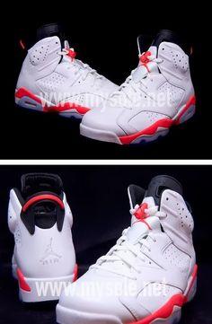 "939762127c7d 2014 Air Jordan 6 VI ""White Infrared"" Sneaker (New Detailed Images + Release"