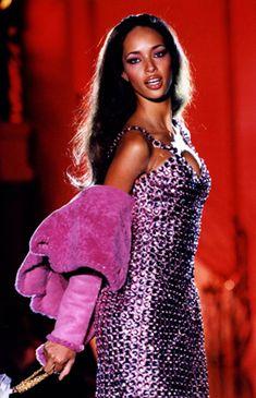 Fun for fall -- Brandi Quinones for Atelier Versace, Fall 1994.