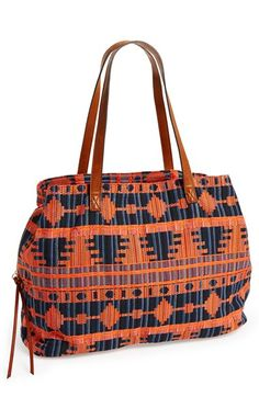 Sole Society 'Oversize Millie' Geo Print Tote available at #Nordstrom $60 black & white stripes!!!