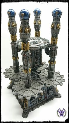Void Shield Generator #ChaoticColors #commissionpainting #paintingcommission #painting #miniatures #paintingminiatures #wargaming #Miniaturepainting #Tabletopgames #Wargaming #Scalemodel #Miniatures #art #creative #photooftheday #hobby #paintingwarhammer #Warhammerpainting #warhammer #wh #gamesworkshop #gw #Warhammer40k #Warhammer40000 #Wh40k #40K #terrain #scenery #Scifi #VoidShield #Generator 40k Terrain, Prop Design, Warhammer 40000, Tabletop Games, Space Marine, Gw, Scenery, Sci Fi, Miniatures