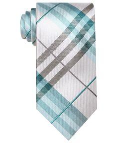 Perry Ellis Tie, Wooster Plaid Skinny Tie - Mens Ties - Macy's