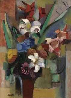 thunderstruck9: André Lhote (French, 1885-1962), Bouquet de fleurs, c.1930. Oil on canvas, 72.9 x 54.2 cm.