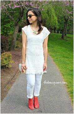 Stella & Dot Summer Collection, Lace Tunic, Outfit Idea, Accessories, How to Style A Lace Tunic #stelladotstyle #sp