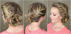 Image result for side bun with plait