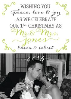 Christmas cards, Cards and Newlywed christmas card on Pinterest