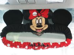 Minnie Mouse Car Accessory #Red : Rear View Mirror Cover