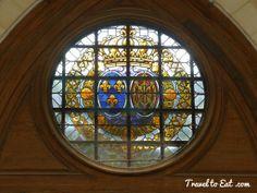 Stained Glass of Door. Sainte-Chapelle. Château de Vincennes, Paris