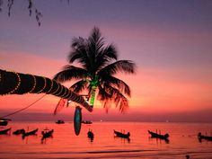 One of the most beautiful sunset ever!Ban Ko Tao, Chumphon, Thailand