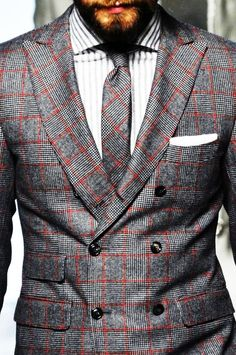Getting a bespoke suit with a matching tie is a great way to project authority. #Fashion #Style #Men