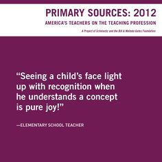 Primary Sources 2012: Quotes from America's Teachers on the Teaching Profession