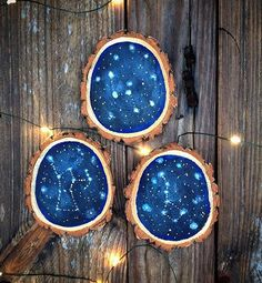Wood slices instead of pictures on the wall can look very nice. That is very original and can stand good in modern houses but also in classic designed houses. On wood slice you can paint everything what will, by your opinion, stand good on your wall.