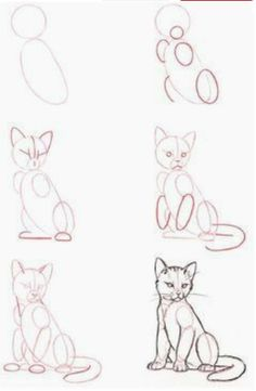 People Drawing Illustration Zeichentechniken How to Draw A Loch Ness Monster Pencil Art Drawings, Art Drawings Sketches, Cute Drawings, Drawings Of Cats, Realistic Drawings, Cute Animal Drawings, Cat Drawing Tutorial, Drawing Ideas, Drawing Tips