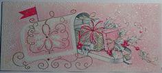 1960s Vintage Christmas Card - Mailbox