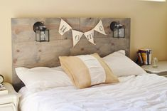 Sale 15 off Wood Rustic Headboard with Black by KnotsandBiscuits Colorful Headboard, Bedroom Design, Rustic Headboard, Headboard Benches, Home Decor, Leather Bed Headboard, Real Wood Furniture, Headboard, Best Home Interior Design