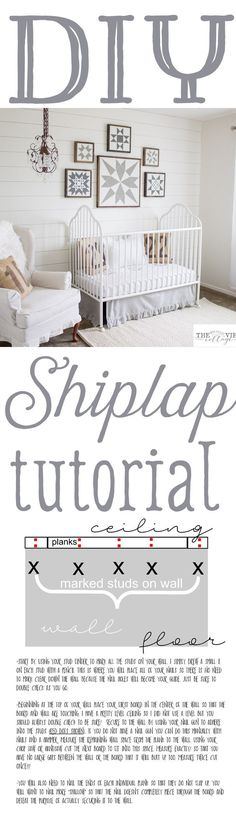 """Diy- Full Tutorial on how to create that beautiful shiplap look in your home! This is especially great for """"cookie cutter"""" homes to create a more cozy custom feel!"""