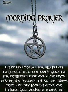 Book of Shadows:  #BOS Morning Prayer page.