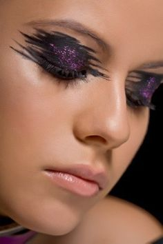 Glam rock, #Goth and punk all converge on this #smoky eye look. Description from pinterest.com. I searched for this on bing.com/images
